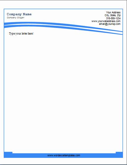 Company Letterhead Template Word Inspirational Business Letterhead format