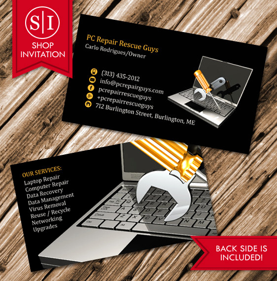 Computer Repair Business Cards Fresh Puter Repair Business Card Free Shipping From