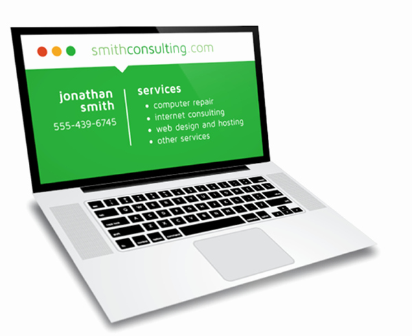 Computer Repair Business Cards Inspirational Laptop Puter Repair Business Card Design On Behance