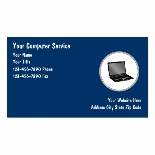 Computer Repair Business Cards Lovely Puter Repair Business Cards