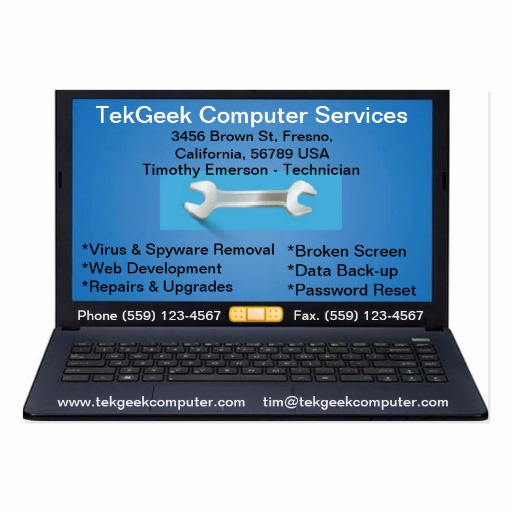 Computer Repair Business Cards Luxury Puter Repair & Services Business Card