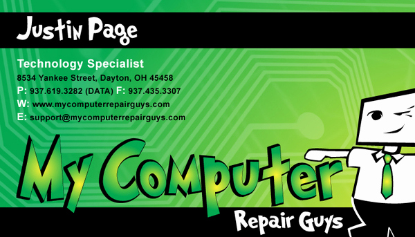 Computer Repair Business Cards Unique Business Card Design On Behance