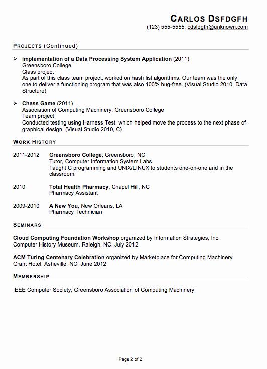 Computer Science Internship Resume Beautiful Download Puter Science Internship Resume Sample