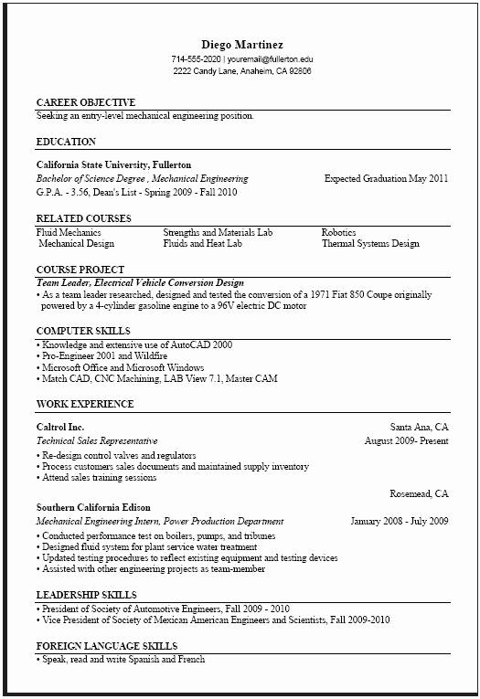 Computer Science Internship Resume Elegant Puter Science Resume Templates Samplebusinessresume