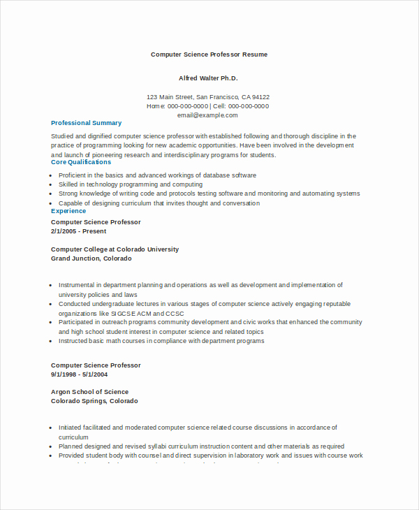 Computer Science Student Resume Fresh Puter Science Resume Template for It Workers