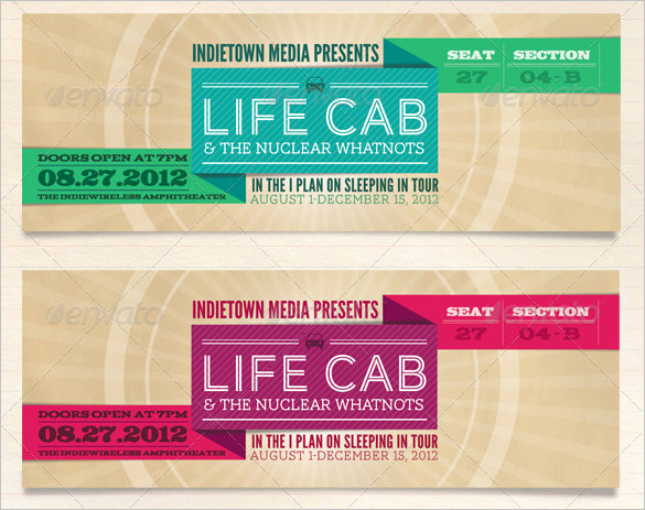 Concert Ticket Template Free Awesome 115 Ticket Templates Word Excel Pdf Psd Eps
