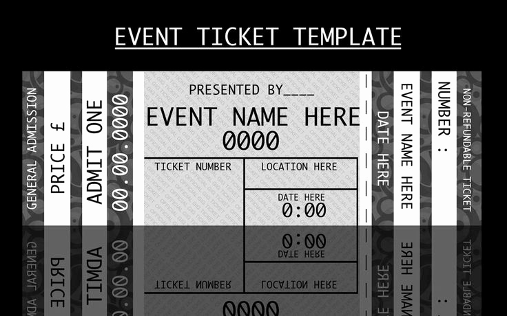 Concert Ticket Template Free Awesome 41 Inspiring Templates Of Admission Ticket Thogati
