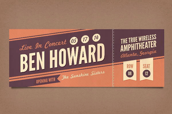 Concert Ticket Template Free Beautiful 12 Vintage Ticket Templates Psd Ai Word