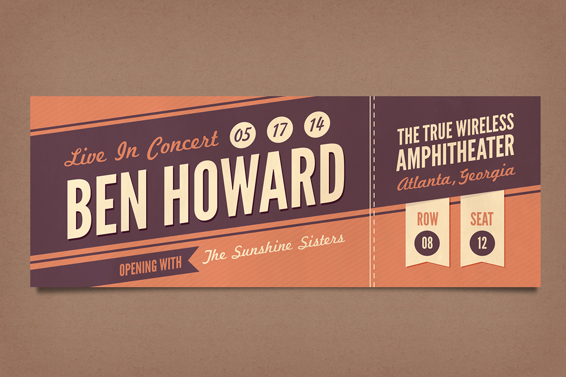 Concert Ticket Template Free Best Of Business Cards Psd Template