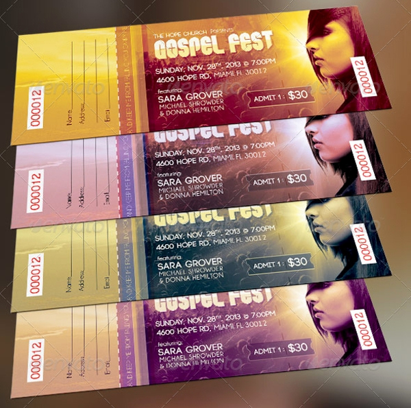 Concert Ticket Template Free Fresh 26 Ticket Templates Psd Ai Word