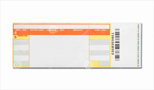 Concert Ticket Template Free Lovely 26 Concert Ticket Templates Psd Vector Eps