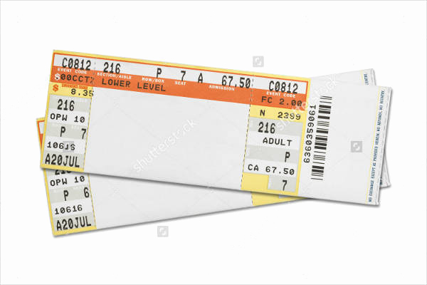 Concert Ticket Template Free Luxury 37 Ticket Templates Download
