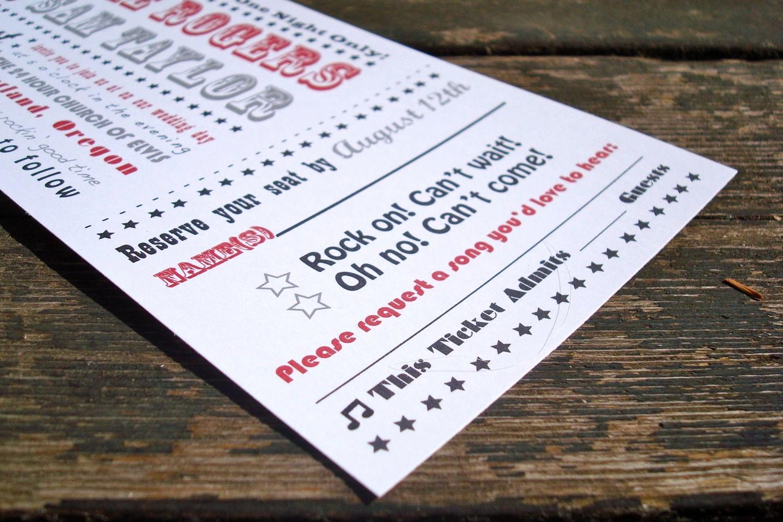 Concert Ticket Template Free Unique Concert Ticket Invitation Templates