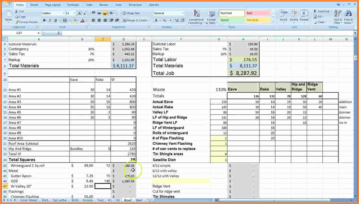 Construction Estimating Spreadsheet Template Beautiful 9 Construction Job Costing Spreadsheet