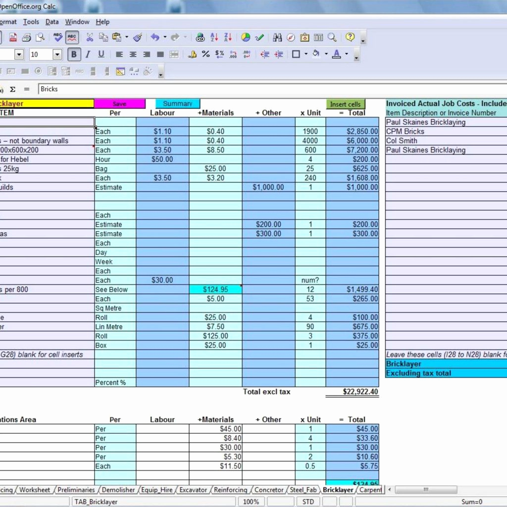 Construction Estimating Spreadsheet Template Lovely Excel Templates for Construction Estimating Pulpedagogen