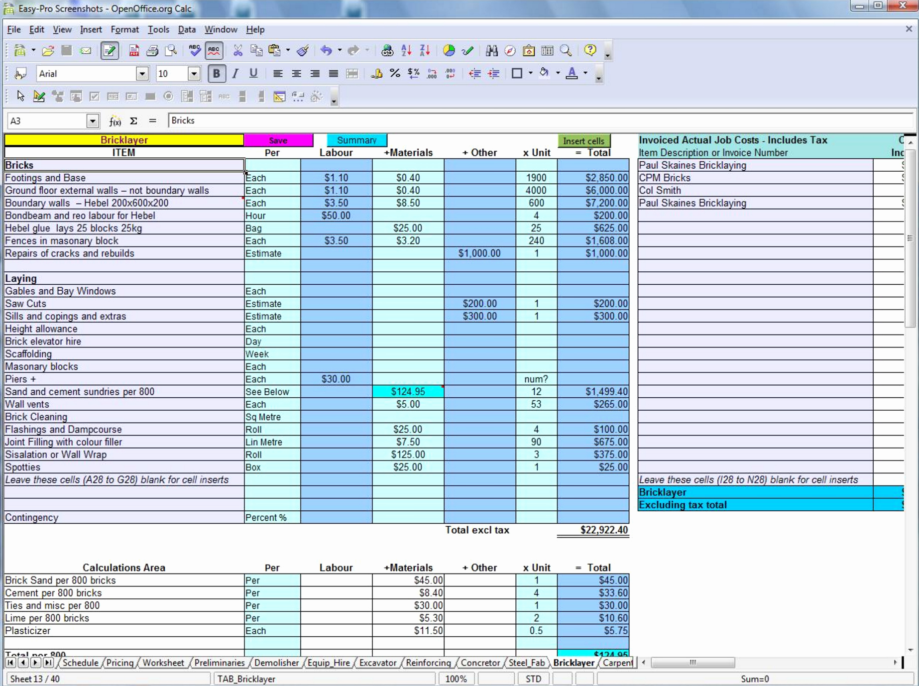 Construction Estimating Spreadsheet Template Lovely Free Construction Estimating Spreadsheet Template
