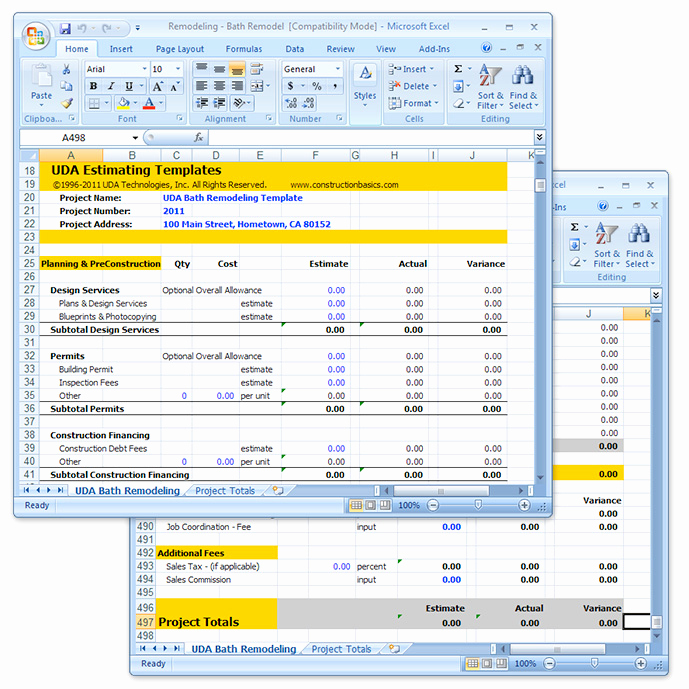 Construction Estimating Spreadsheet Template Luxury Construction Estimate Template