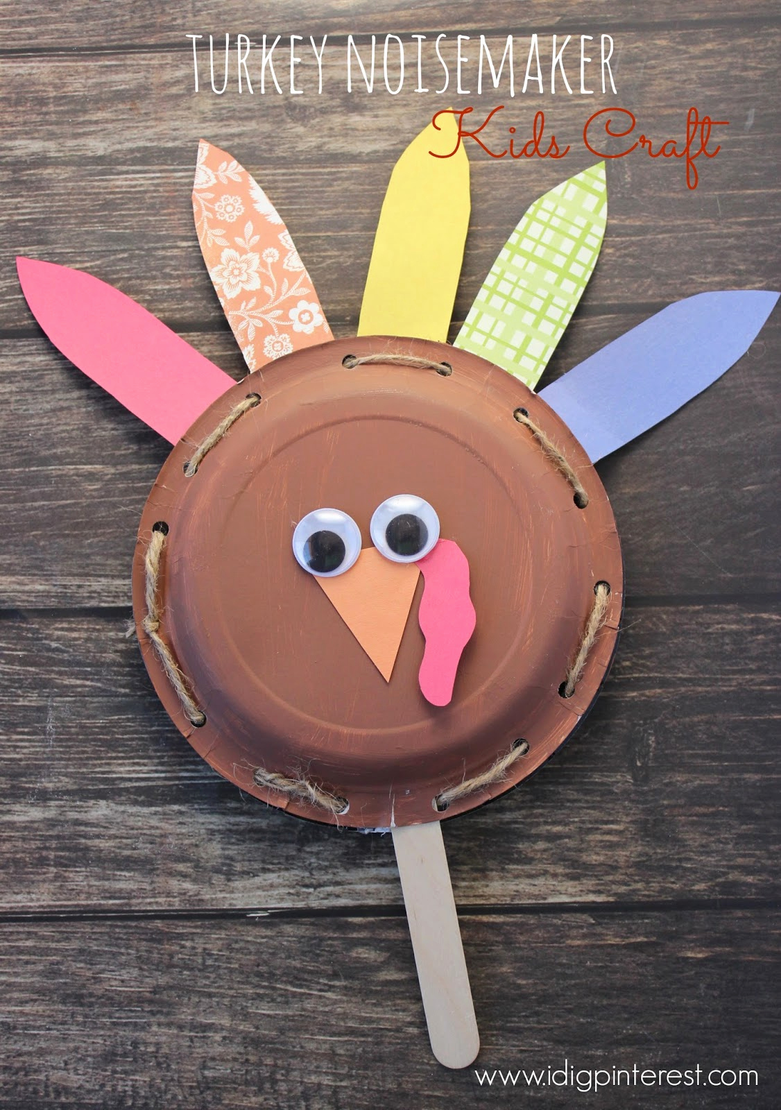 Construction Paper Crafts for Adults Unique Turkey Noisemaker Thanksgiving Kids Craft I Dig Pinterest