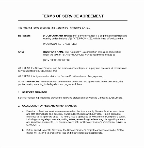 Contract for Services Template Awesome Service Agreement Template