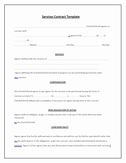 Contract for Services Template Best Of 5 Free Maintenance Contracts Samples and Templates