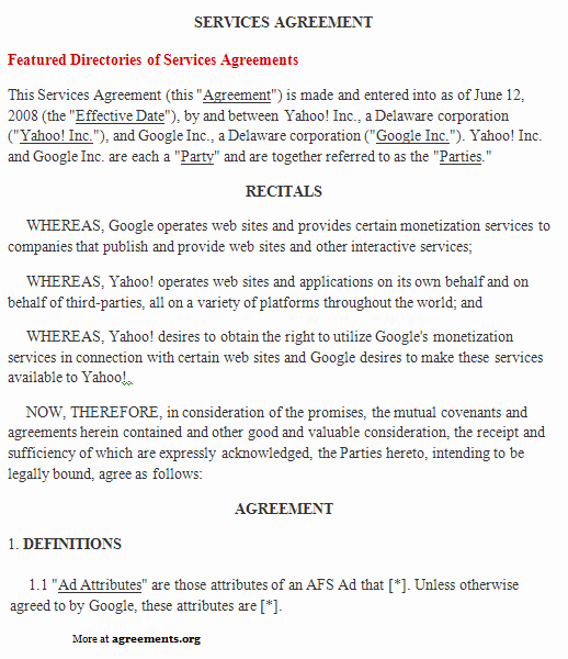 Contract for Services Template Lovely Free Printable It Service Agreement Template form Generic