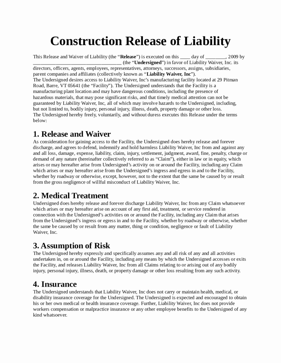Contractor Liability Waiver form Inspirational 2019 assignment Of Deed Of Trust form Fillable