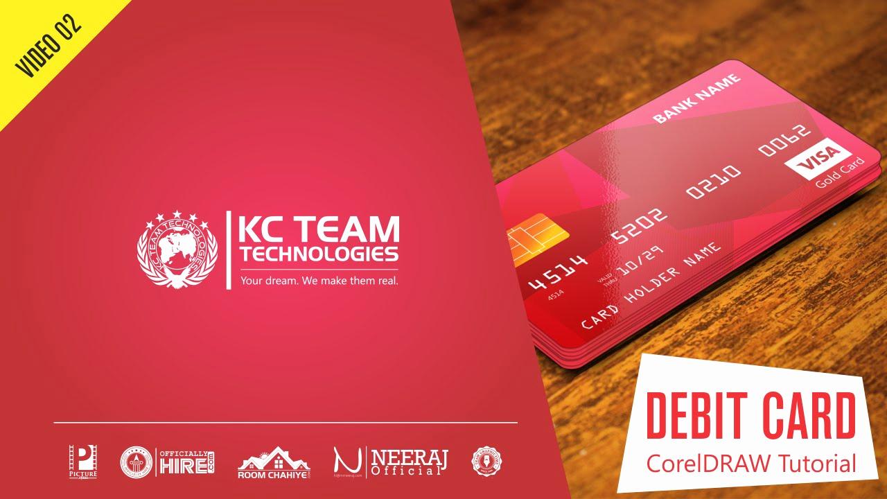 Cool Debit Card Designs Beautiful Coreldraw Tutorial How to Design Credit or Debit Card In