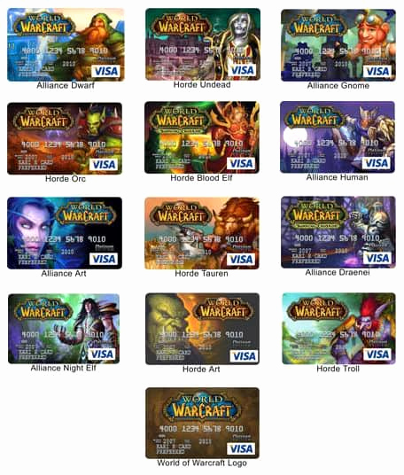 Cool Debit Card Designs Beautiful World Of Warcraft Credit Card Review