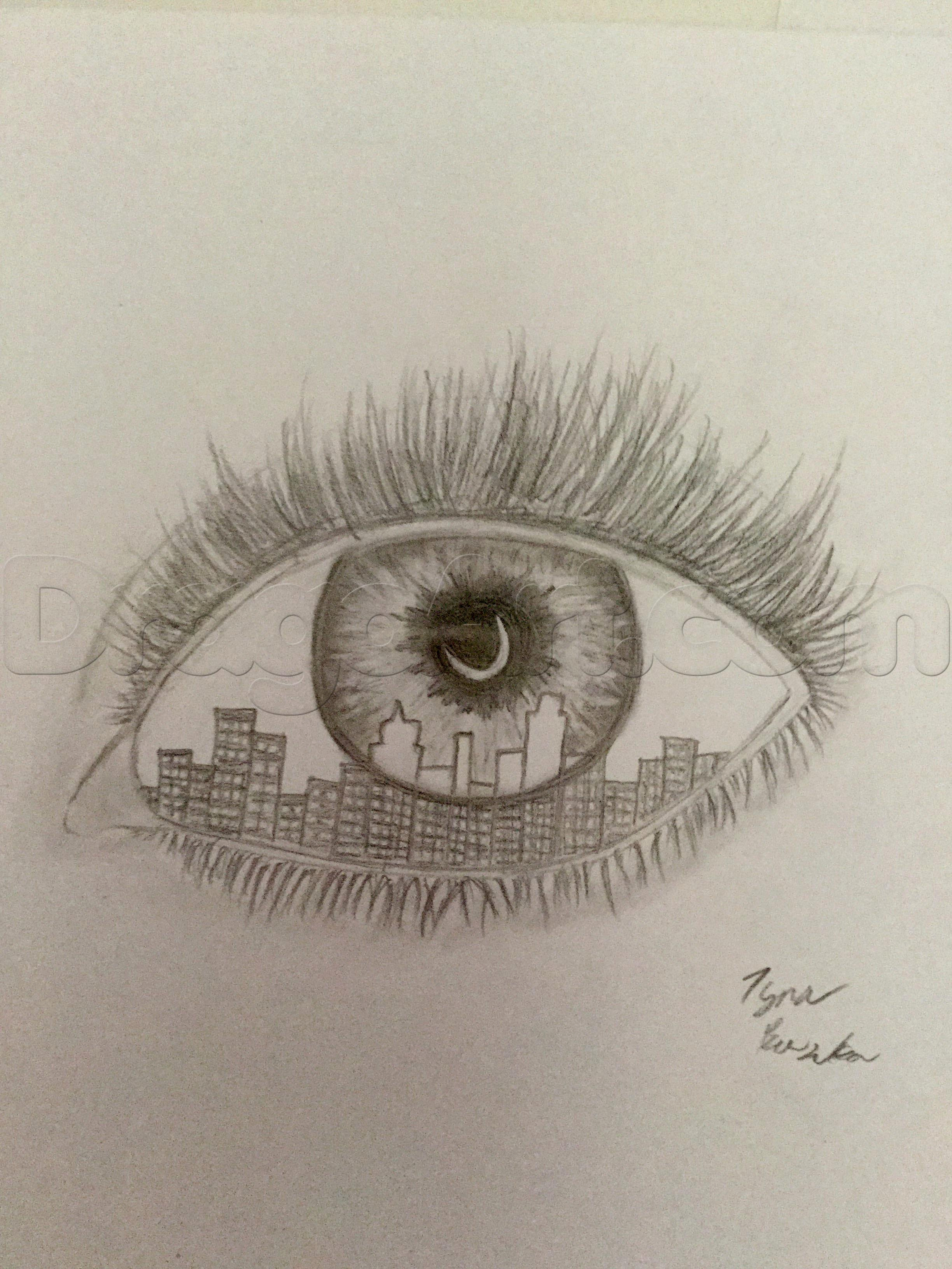 Cool Drawings to Draw Beautiful How to Draw A Cool Eye Step by Step Concept Art Fantasy