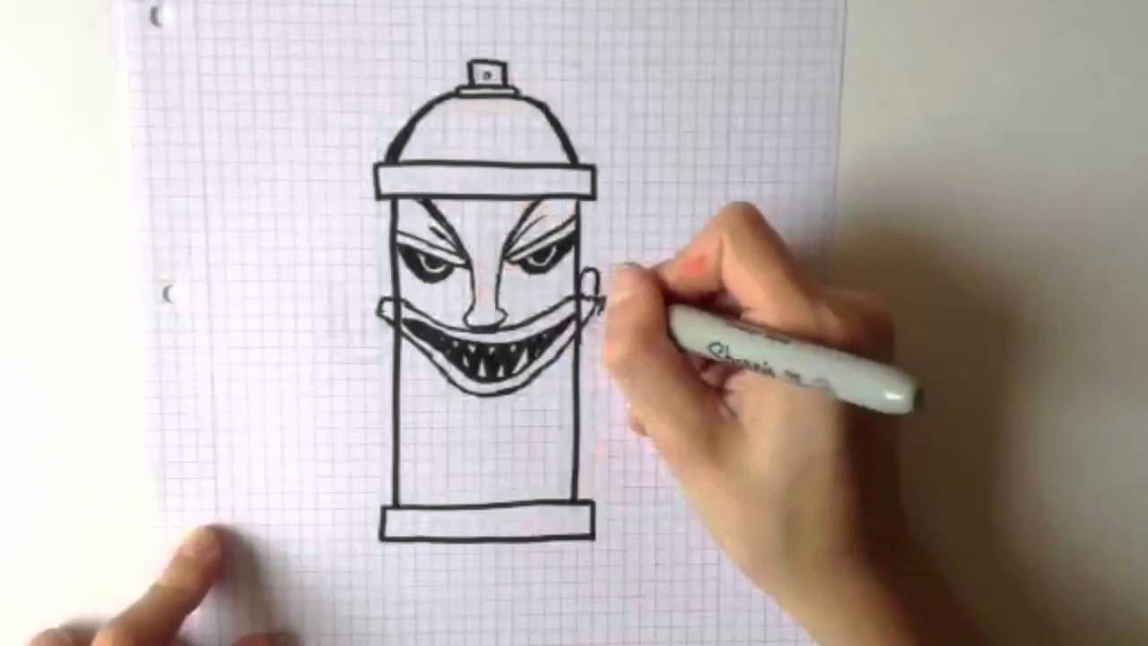 Cool Drawings to Draw Fresh Easy Cool Drawings [time Lapse] How to Draw A Spray Can