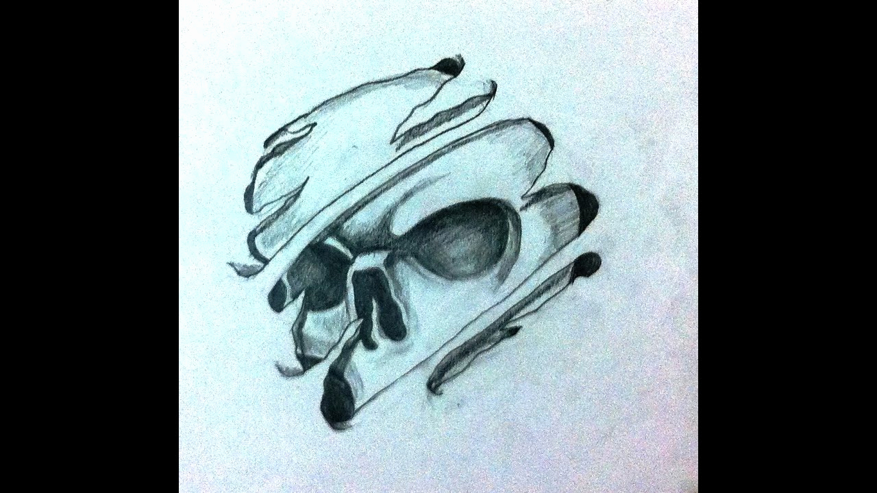 Cool Drawings to Draw Fresh How to Draw Cool 3d Skull Tattoo Desing Speed Drawing