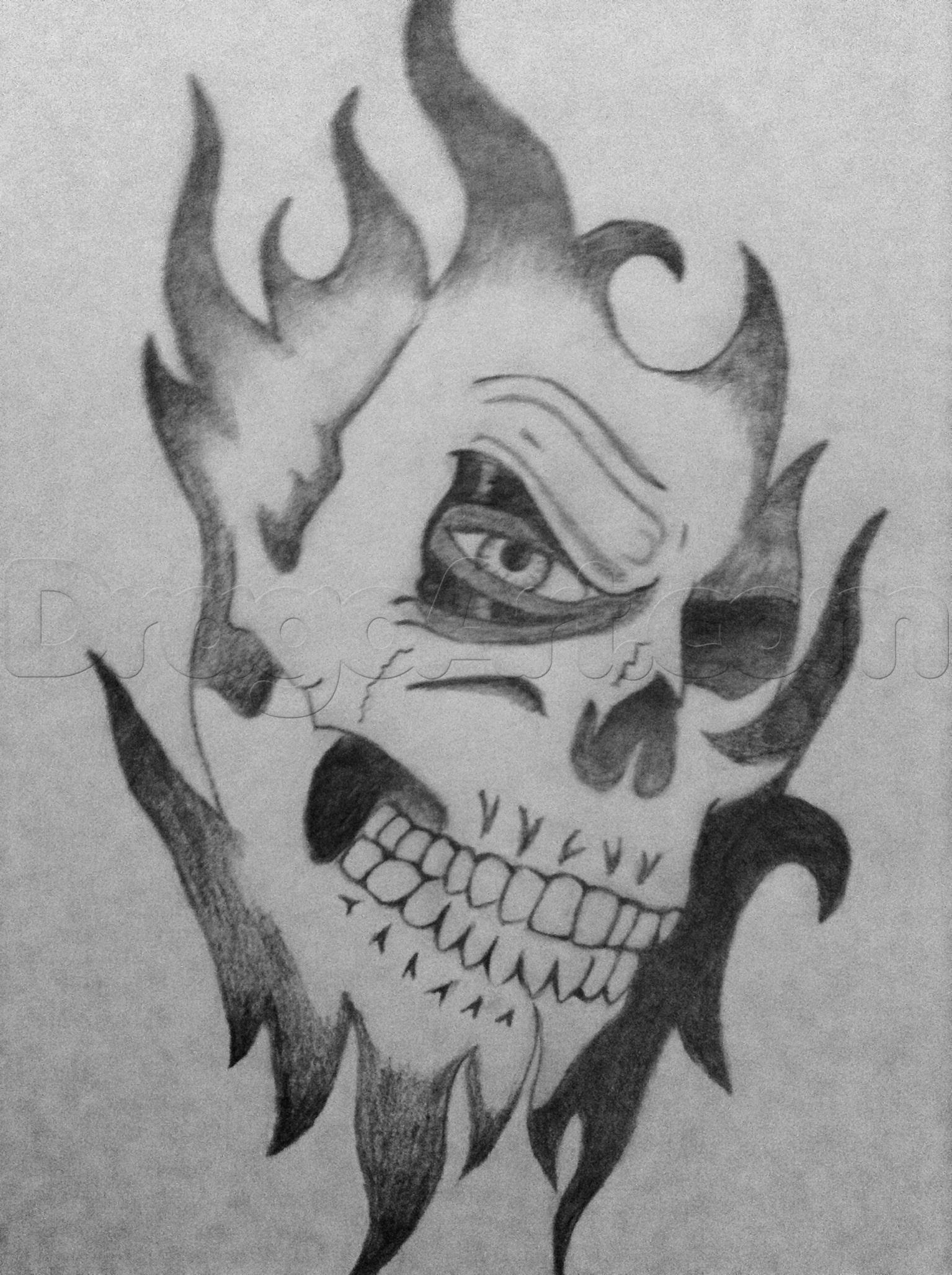 Cool Drawings to Draw New How to Draw An Awesome Skull Step by Step Skulls Pop