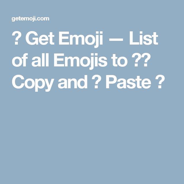 Cool Emoji Copy and Paste Inspirational Best 25 Emoji List Ideas On Pinterest