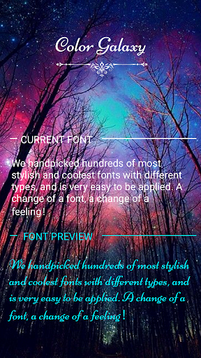 Cool Fonts for androids Beautiful Download Color Galaxy Font for Flipfont Cool Fonts Text