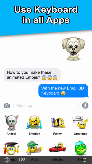 Copy and Paste iPhone Emojis New Animated Emojis Emoji 3d Keyboard New Emoticon Sticker