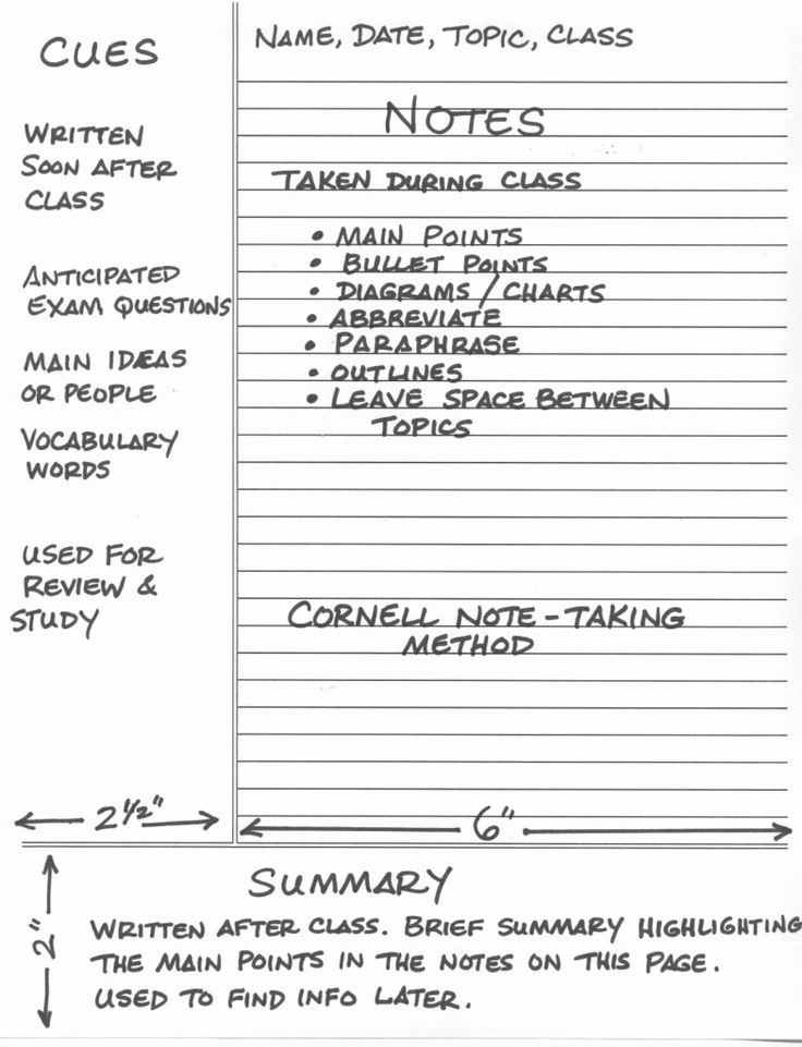 Cornell Notes Template Google Docs Lovely 12 Best Cornell Notes Images On Pinterest