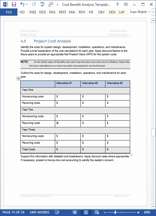 Cost Benefit Analysis Template Excel Best Of Cost Benefit Analysis Template