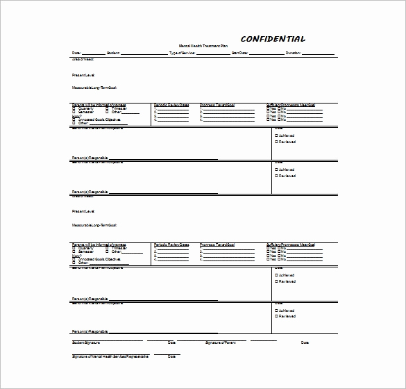 Counseling Treatment Plan Template Pdf Best Of 8 Treatment Plan Templates