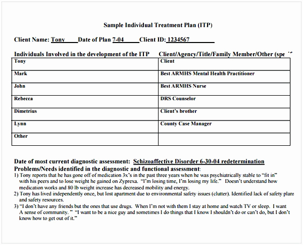 Counseling Treatment Plan Template Pdf Fresh Counseling Treatment Plan Template Pdf