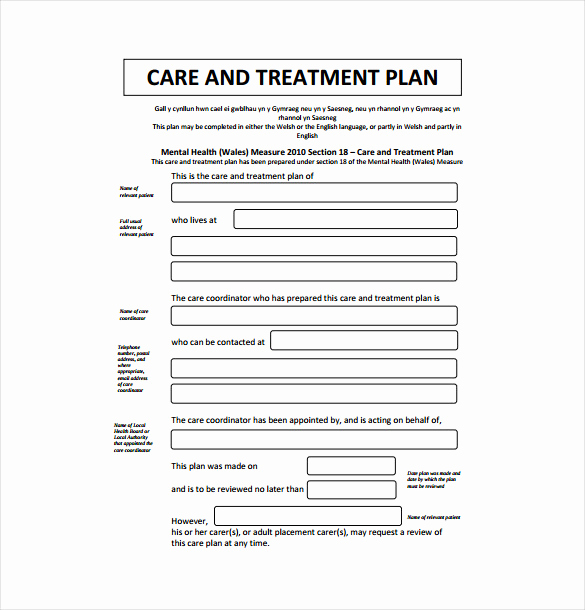 Counseling Treatment Plan Template Pdf Fresh Treatment Plan Template