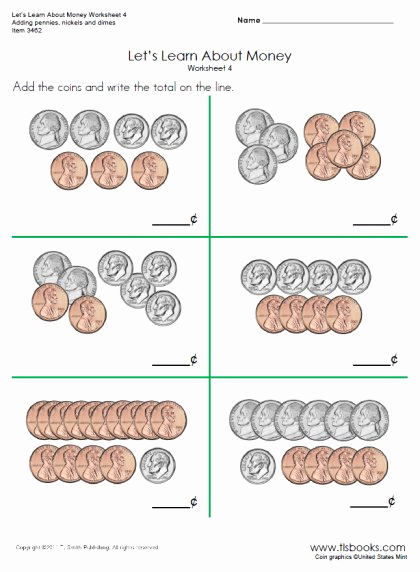 Counting Money Worksheets Pdf Best Of Let S Learn About Money Worksheets 4 and 4a