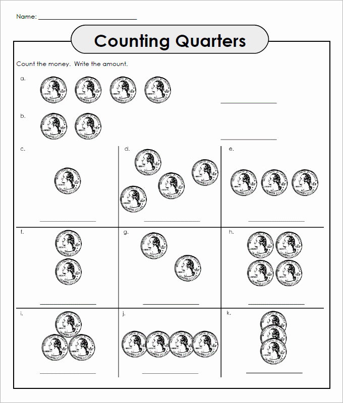 Counting Money Worksheets Pdf Lovely 27 Sample Counting Money Worksheet Templates