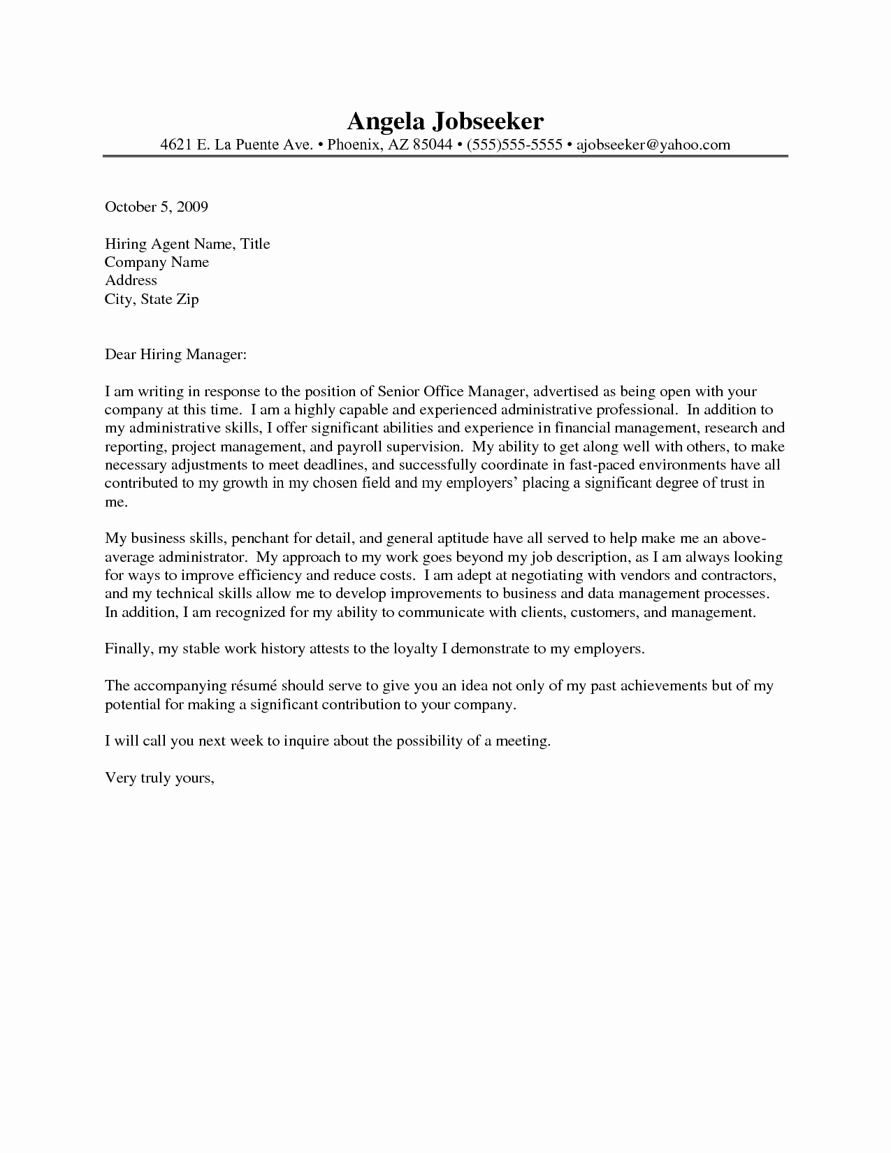 Cover Letter for Administrative Position Best Of Administrative assistant Resume Cover Letter