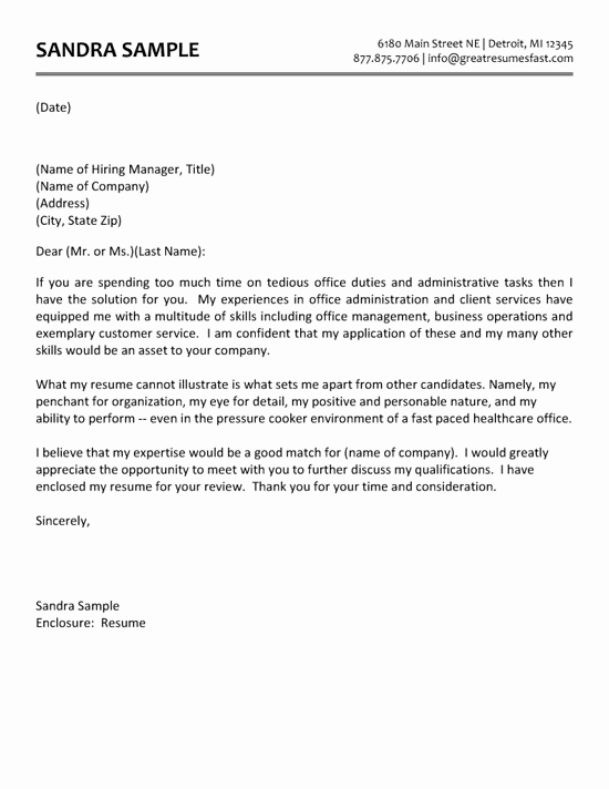 Cover Letter for Administrative Position Fresh Administrative assistant Cover Letter Example
