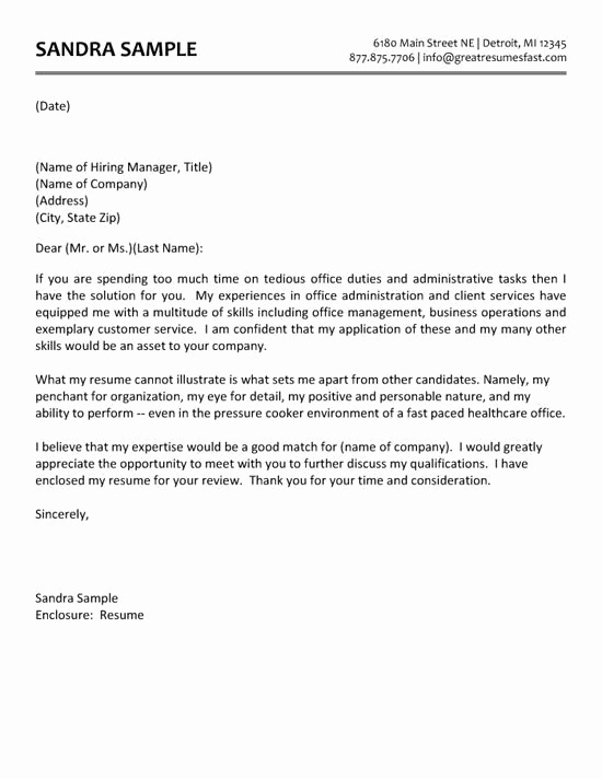 Cover Letter for Administrative Position Fresh Administrative assistant Cover Letter