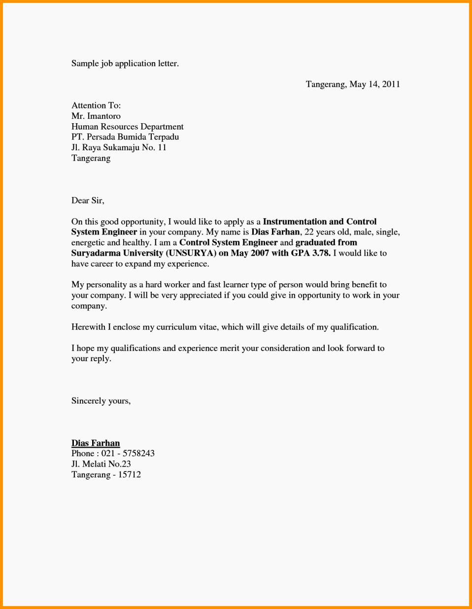 Cover Letter for Employment Beautiful Application Cover Letter for Job for Fresher