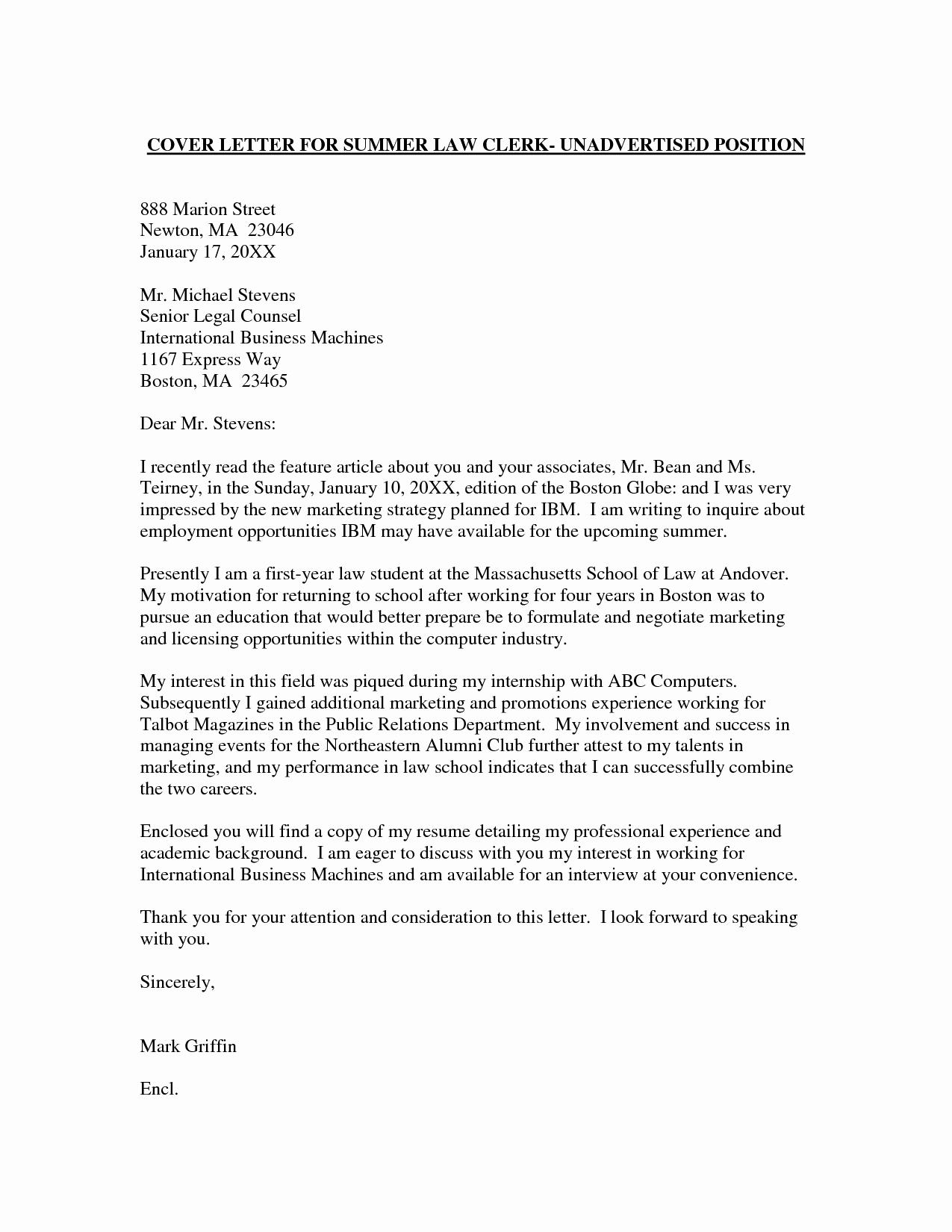 Cover Letter for Employment Unique Employment Cover Letter Template Wondercover Letter