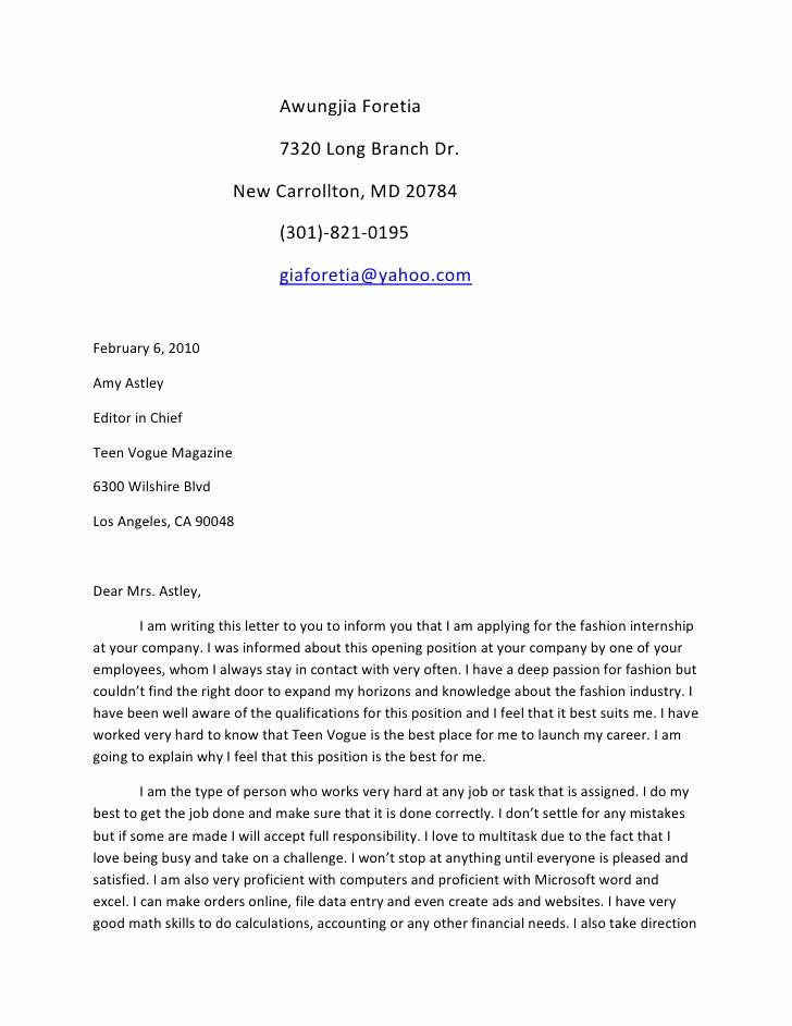 Cover Letter for First Job Beautiful Sample Cover Letter Wikispace