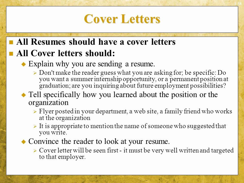 Cover Letter for First Job Best Of sounds Simple Doesn't It Ppt