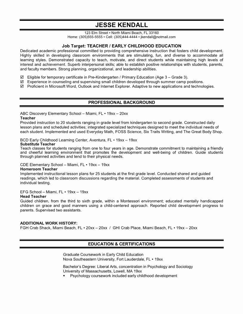 Cover Letter for First Job Luxury Great Resume Examples for First Jobs – Perfect Resume format